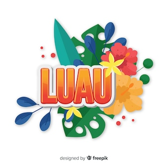 Hawaiian luau background