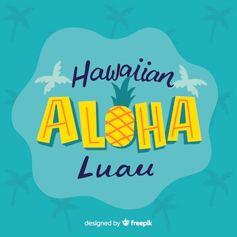 Hawaiian luau lettering background