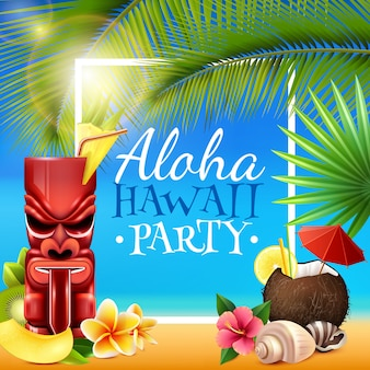 Hawaiian party frame