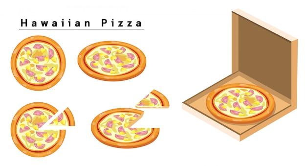하와이안 피자