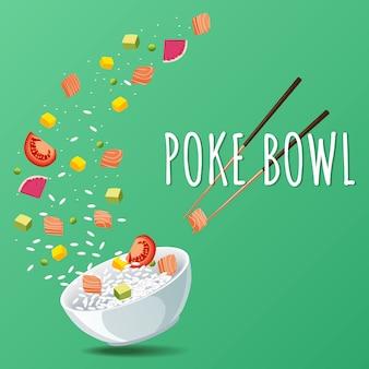 Hawaiian poke salmon bowl