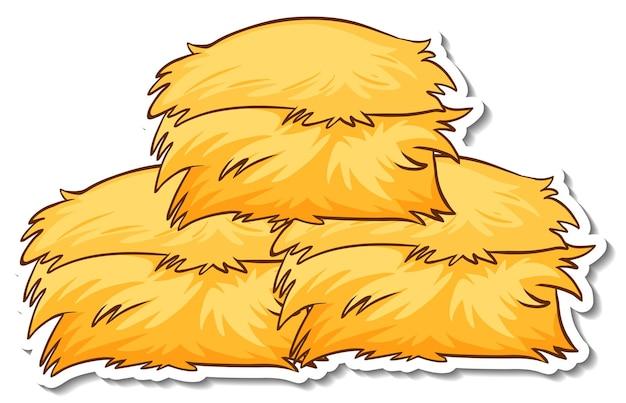 Haystack sticker on white background