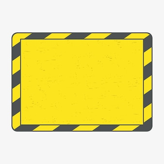 위험 프레임입니다. 그런 지 검은색과 노란색 라인 프레임입니다. 벡터 일러스트 레이 션.