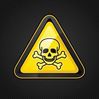 Hazard warning triangle toxic sign on
