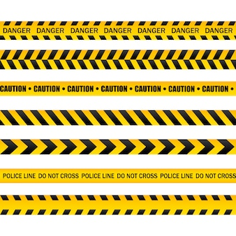 Hazardous warning tape sets