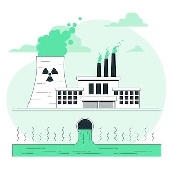 유해 폐기물 개념 그림