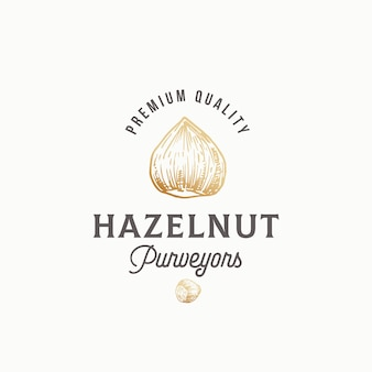 Hazelnut purveyors abstract sign, symbol or logo
