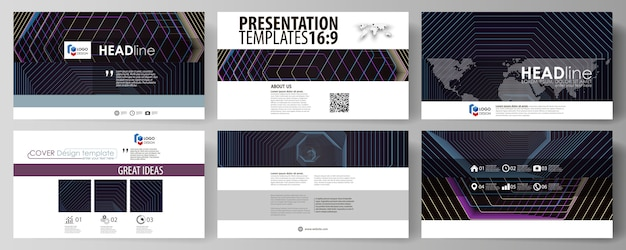 プレゼンテーションスライド用のhdフォーマットのビジネステンプレート。