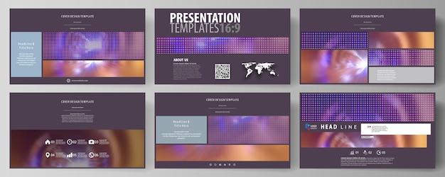 プレゼンテーションスライド用のhdフォーマットのビジネステンプレート
