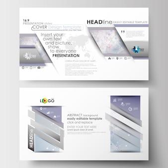 プレゼンテーションスライド用のビジネステンプレート(hd形式)。