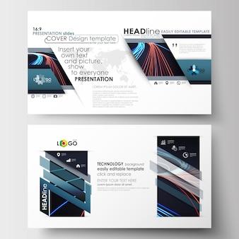 スライドをプレゼンテーションするためのビジネステンプレート(hdサイズ)。