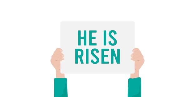 그는 부활했습니다. 부활절 견적