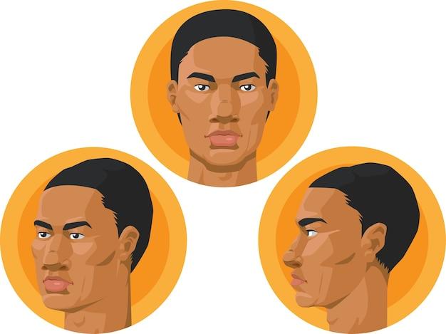 Head - african american man