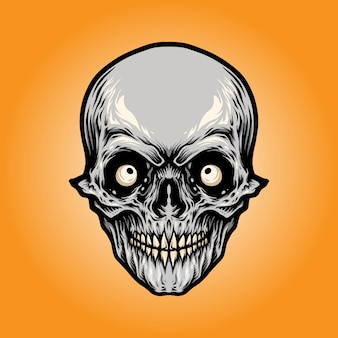 頭の怒っている頭蓋骨
