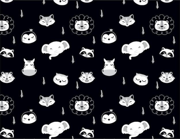 Head animals pattern for kids