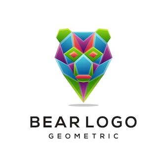 ヘッドベアカラフルなロゴデザインテンプレートモダン
