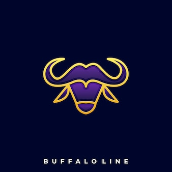 Head buffalo logo