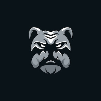 Head bulldog logo