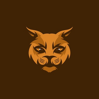 Head cat mascot illustration