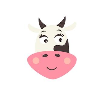Голова милая улыбающаяся корова