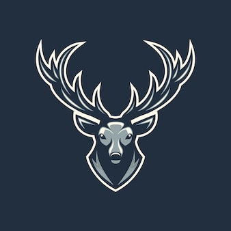 Head deer illustration