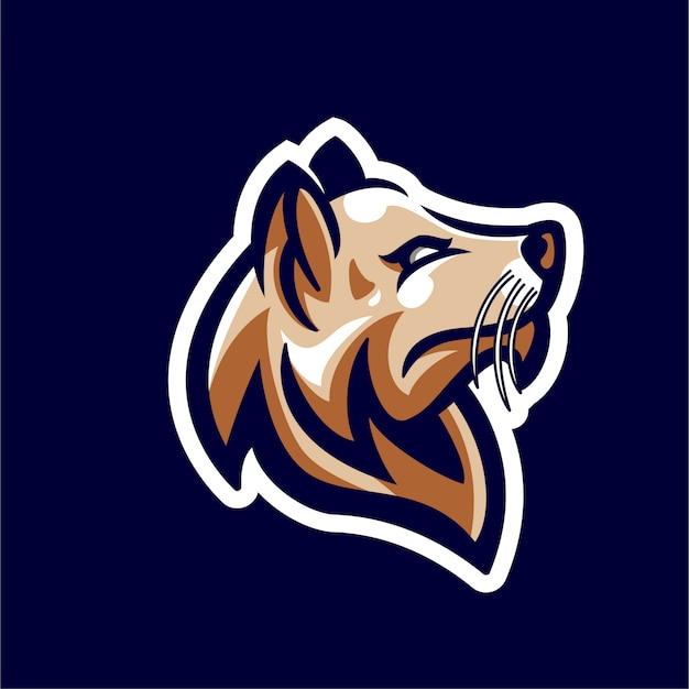 Head dog character mascot for esports logo