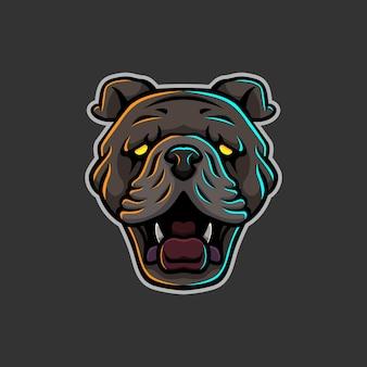 Логотип головы собаки