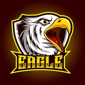 Head eagle angry mascot for sports and esports logo vector illustration