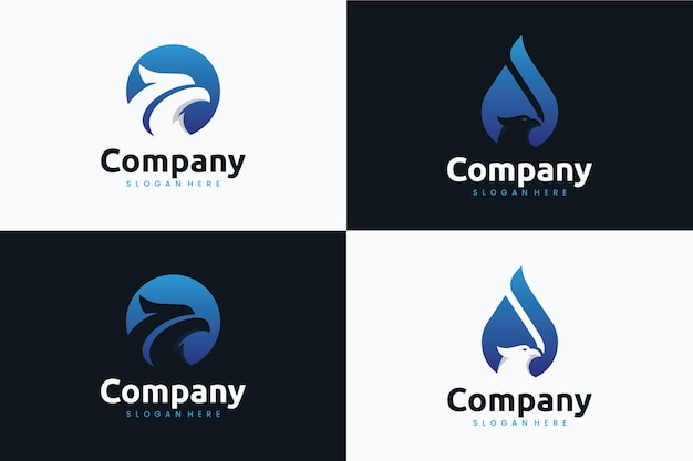 Head eagle collection , logo design inspiration