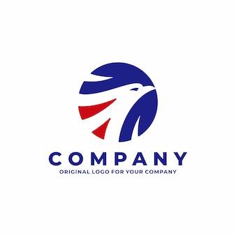 Head eagle logo design template