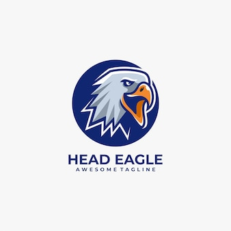 Head eagle logo Premium Vector