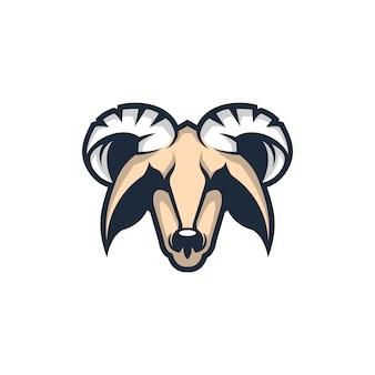 Head goat mascot logo