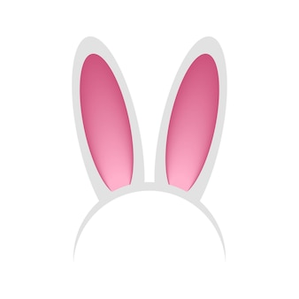 Head hoop with rabbit or hare ears headband  bunny mask for celebration party festival easter