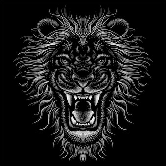 The head lion draw.