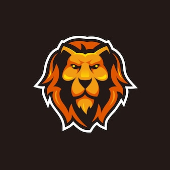 Head lion illustration