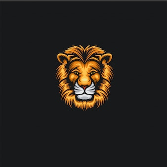 Head lion logo ilustration