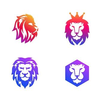 Head lion logo template