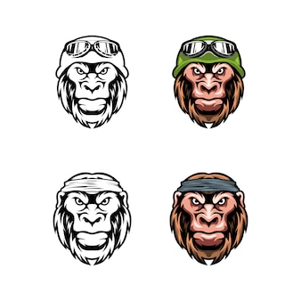 Head lion with cap and eyeglasses set