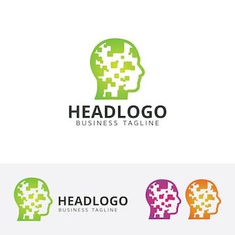 Шаблон логотипа головы