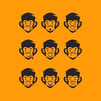 Head monkey logo
