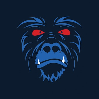 Head monkey vector illustration