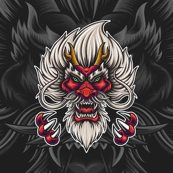 ドラゴンイラストの頭