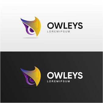 Head owl gradient logo