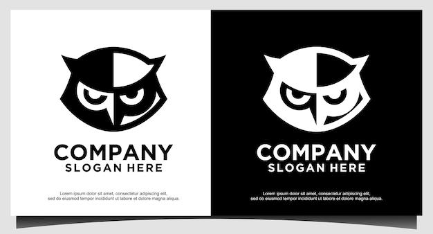 Голова совы дизайн логотипа вектор