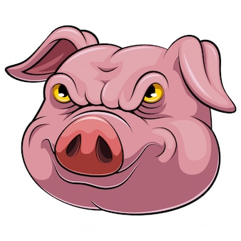 Head of an pig cartoon