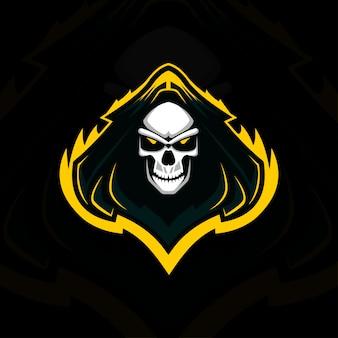 Head reaper mascot logo e-sport design