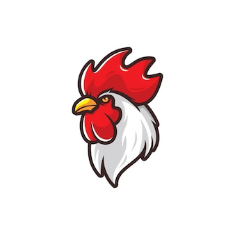 Head of rooster illustration