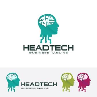 Head tech logo template