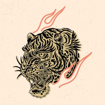 Head of the tiger for tshirt design or merchandise