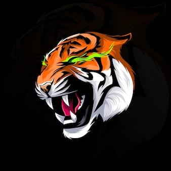 頭虎ベクトルデザインイラスト
